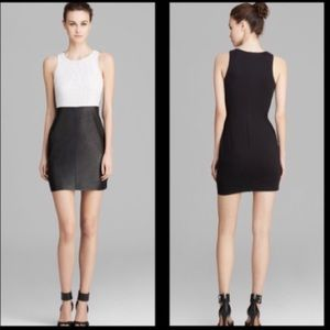 Bailey44 Black and White Leather Perforated Dress